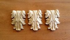 "Lot of 3 - Hand Carved Solid Hardwood Little Corbels 2-7/8""H x 2""W"