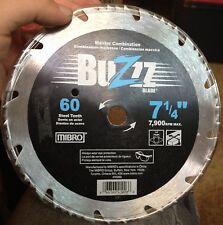 "Mibro Master Combination 60 Steel Teeth 7-1/4"" 7,900 Max RPM Buzz Blade (BUZZZ)"