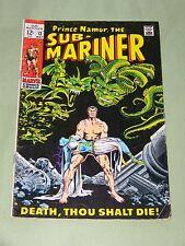 SUB-MARINER # 13 1969 / ROY THOMAS & MARIE SEVERIN / FINE MINUS CONDITION