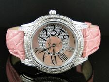 NEW LADIES JOE RODEO/KC JOJO BEVERLY PINK 152 DIAMOND WATCH 1.35CT JBLY3