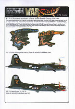 KW172237 Kits World Decals 1:72 Boeing B-17G Flying Fortress 'Blue Champagne'