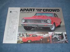 """1965 Chevy Nova SS Drag Car Article """"Apart from the Crowd"""""""