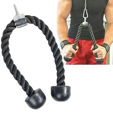 Tricep Bicep Rope Push Pull Down Rope Cable Multi Gym Weightlifting Fitness