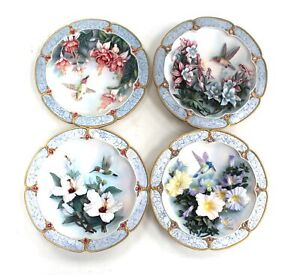 Set Of 4 MORNING JEWELS FROM LENA LIU WALL PLAQUES Limited Edition Plates  - N12
