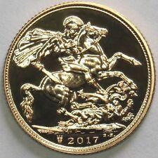 2017 Queen Elizabeth II Gold Sovereign + capsulated dans boîtier de luxe