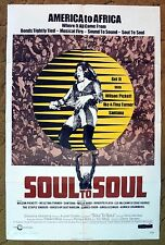 """70's """"SOUL TO SOUL"""" music poster with all of the greatest musical artists!"""