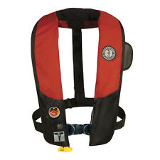 MUSTANG INFLATABLE LIFE VEST MD3183  DELUXE AUTOMATIC INFLATABLE RED/BLACK