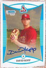 St. Louis Cardinals David Kopp 2008 Bowman Chrome Certified 1st Card Auto