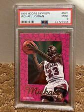 1995 Hoops Skyview Michael Jordan Bulls PSA 9 TOUGH insert card #SV1  --- J