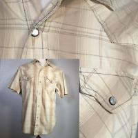 LEVIS STRAUSS Signature Shirt Men's Medium Pearl Snap Western Plaid Rockabilly