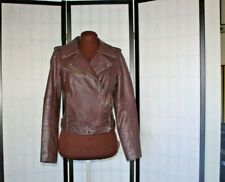 TREASURE & BOND BEAUTIFUL  SOFT BROWN LEATHER MOTO  JACKET SZ XS MADE IN INDIA
