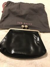 Ted Baker Black Patent Leather Silver Chain Link Handle BNWOT Bag