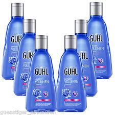 (21,09€/L) 6x 250ml Guhl A largo plazo Volumen champú pelo fino Azul Lotus
