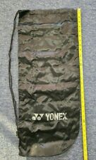 Yonex Soft Tennis Bag for 1 or 2 Racquets Full Cover Mesh Black Drawstring