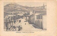 9550) FIESOLE (FIRENZE) VEDUTA DA S. DOMENICO, CARROZZA BICICCLETTA E PASSANTI.