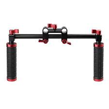 Camera Handle Grips+Rod Clamp Support Kit for DSLR Camera Camcorder Shoulder Rig