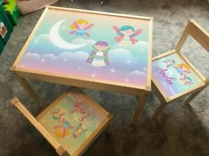 Personalised Children's STICKER FOR Ikea LATT Table and 2 Chairs Printed Fairy