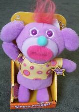 Sing-a-ma-jig Purple Bear Plush Toy Doll NEW