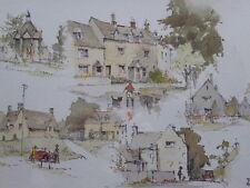 Artista acuarela los Cotswolds expuso Tony Hunter Envío Gratuito Inglaterra
