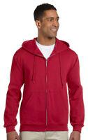Jerzees Men's Double Needle Super Full Zip Long Sleeve Fleece Hoodie. 4999