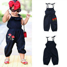 Toddler Kid Baby Girl Clothes Strap Flower Romper Jumpsuit Summer Outfit Sunsuit
