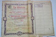 La gauloise SA d'assurance et de réassurance 1902 obligation viagère