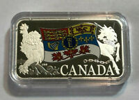 2019 RCM Queen Elizabeth II's Personal Canadian Flag $25 Pure Silver Proof Coin