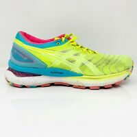 Asics Womens Gel Nimbus 22 1012A802 Running Shoes Yellow Lace Up Size 7.5
