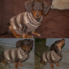 """Handmade Knit Dog Sweater for a 16"""" (Small/ extra small) Dachshund Chihuahua"""