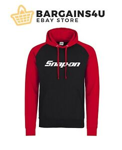 Snap On Black / Red Logo Hoodie Sweater Top Sizes S - 2XL Work Wear Power Tools