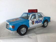 ROMAN MERCEDES CLASSE S POLICE en tôle genre JOUSTRA  années 1980
