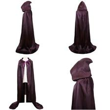 Vglook Unisex Hooded Halloween Christmas Cloak Costumes Party Cape(Purple)