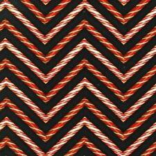 'Holly Jolly Christmas 3' Zig-Zag Peppermint Sticks On Black Fabric - Kaufman
