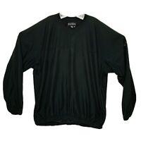 FOOTJOY FJ Mens Golf Pullover Windbreaker Jacket Black XL With 2 Zip Pockets EUC