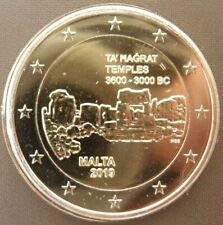 Malta 2 euromunt 2019 UNC Met muntteken F - Ta Hagrat Tempels