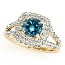 1.43 Carat White G SI1 & Blue Diamond Ring Best Price on Ebay 14k Yellow Gold