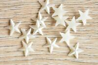VP10 Cream 50pcs 10x10mm Pearl Star Medium Acrylic Rhinestone Jewels Flatback
