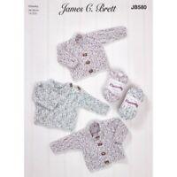 Knitting Pattern James C Brett JB625 Aran Long Jumper