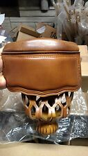 Set of 6 Pecan Leather Pool Table Billiards Replacement Pockets New # 6 Irons