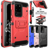 For Samsung Galaxy S20 Ultra/S20+ Plus Defender Case Belt Clip Cover Kickstand