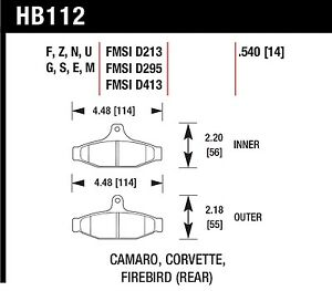 Hawk Performance HB112Z.540 Stable Friction Output Disc Brake Pads
