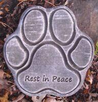 "Dog paw memorial  plastic mold concrete plaster garden mould  9.5"" x 9.5"" x .75"""
