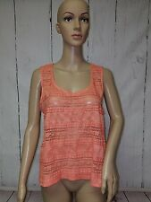 Forever 21 Womens Large Lace Blouse Sleeveless Stretchy Top