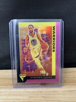 Stephen Curry 2019-20 Panini Chronicles Flux Pink Prizm Steph #585 Warriors