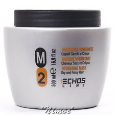 M2 Hydrating Mask Dry and Frizzy Hair 500ml Echos Line ® Idratante Secchi Crespi