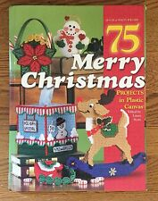 Plastic Canvas 75 Merry Christmas Projects Hardback Pattern Book - NICE