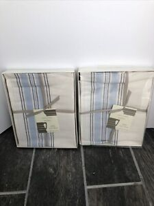 Jasper Conran At Wedgewood Blue & White Napkins Set Of 8 Casual Collection New