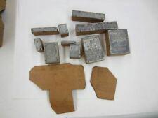 Vintage DUTCH BOY PAINT logo printing press plate wood brass newspaper plates