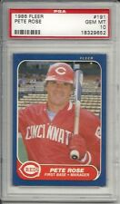 1986 Fleer Pete Rose #191 PSA 10 Gem Mint Baseball Card.