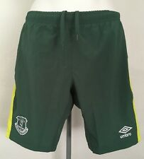 EVERTON 2016/17 GREEN GOALKEEPERS SHORTS BY UMBRO SIZE MEN'S SMALL BRAND NEW